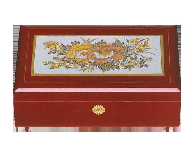 宝石箱 オルゴール付(ばら彫金)
